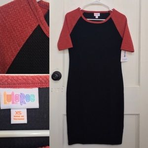 LuLaRoe black and red Ragland Julia dress